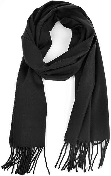 Warm Men Cashmere Scarf Winter Scarves Long Black Scarf for Men