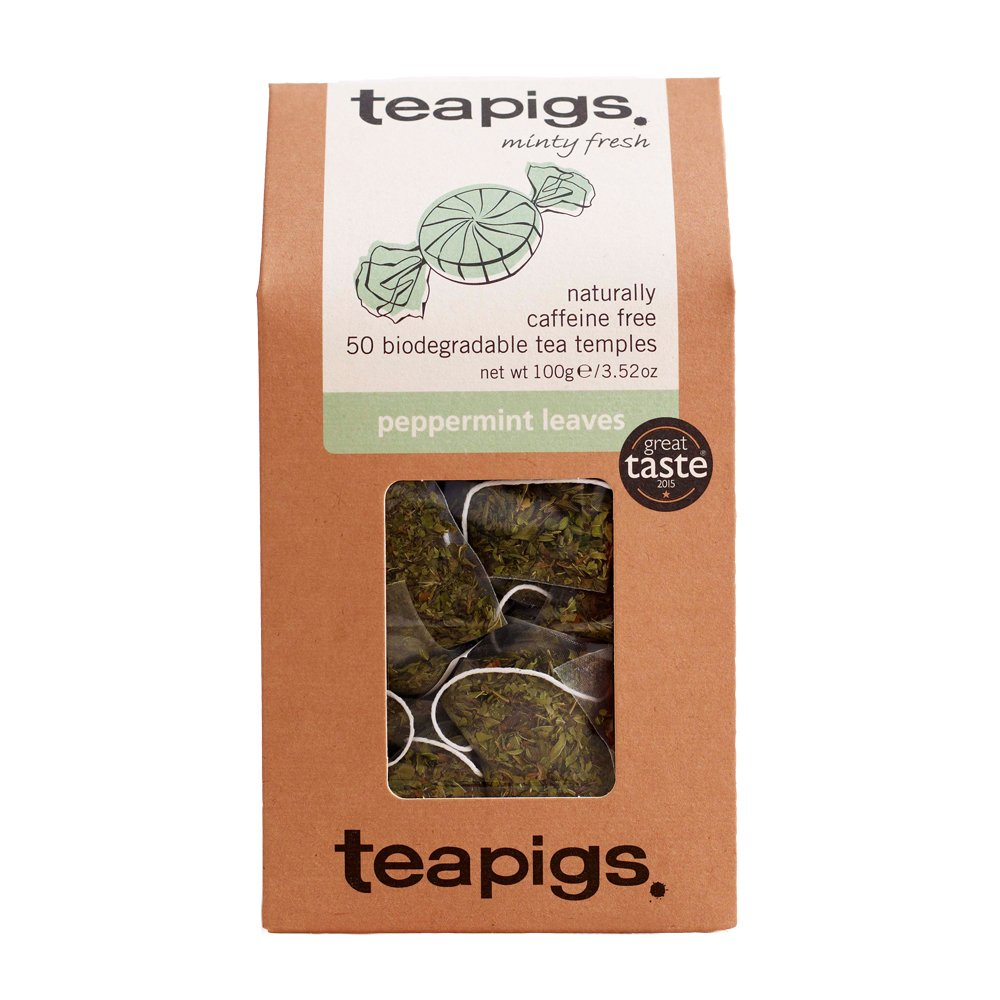 Teapigs Peppermint Leaves Tea Bags Made with Whole Leaves (1 Pack of 50 Tea Bags)