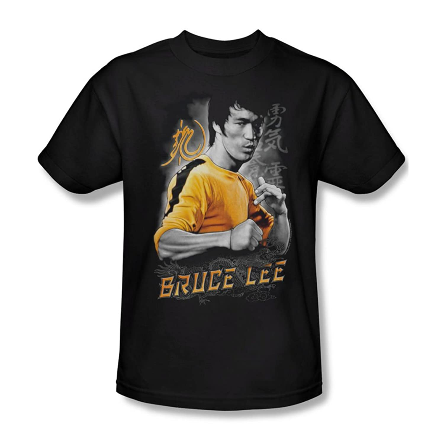 Bruce Lee - Mens Yellow Dragon T-Shirt