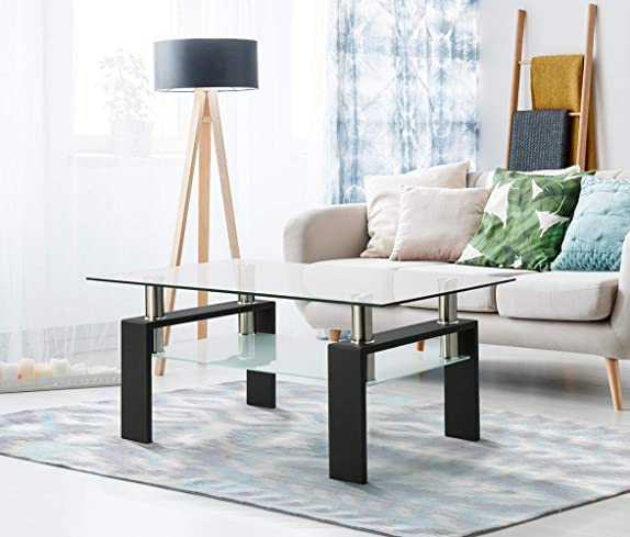 SLEERWAY Tempered Glass Coffee Table