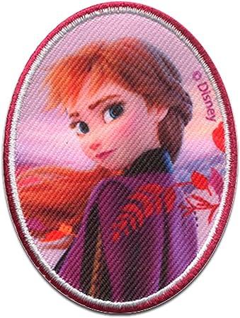 Disney /© Frozen 2 Il regno di ghiaccio 2 Anna ovale Toppe termoadesive Patch Toppa ricamate