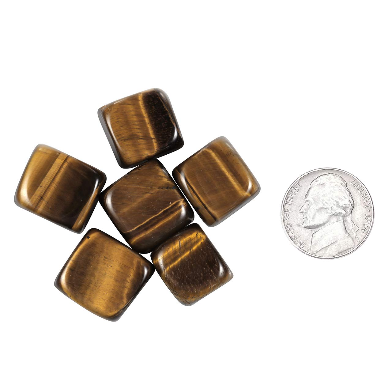 CrystalTears 0.33lb Bulk Natural Tiger Eye Tumbled Stones Polished Crystals for Reiki,Healing,Wicca,Home Decor