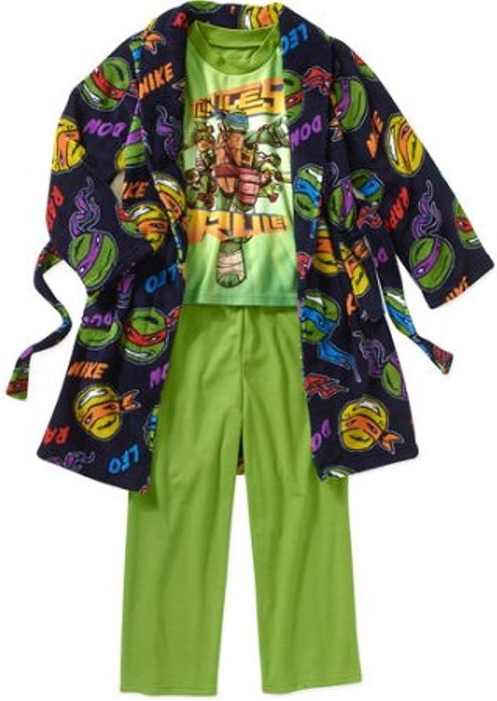 Teenage Mutant Ninja Turtles Boy 3 PC Bathrobe Pajama Set Size 6//7