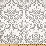 Premier Prints Traditions Twill Storm Grey Fabric By The Yard