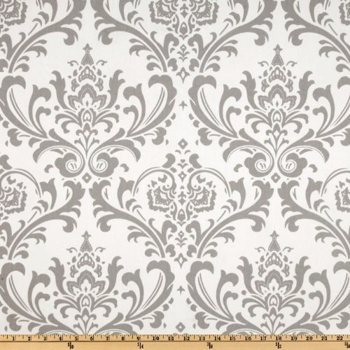 Premier Prints Traditions Twill Storm - Damask Fabric Cotton