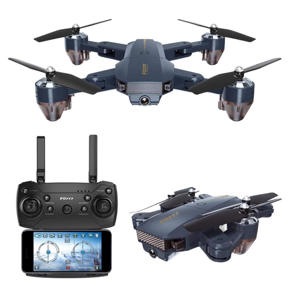 IBellete RC Drone, FQ777 FQ35 Folding Altitude Hold 720P WiFi RC Quadcopter, FPV Videoübertragung in Echtzeit Fernsteuerung