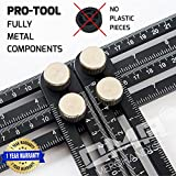 ANY- ANGLE Ultra Nook Scale Multi-Angle Measuring Ruler: FULL-METAL Angle-izer Template Tool - For Handymen, Builders, Craftsmen, Carpenters, Roofers, Tilers, DIY-ers & GREAT GIFT + 1 YEAR Warranty!