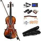 ammoon Pro Master Maestro Antonio Stradivari Stile 1716 Antiquariato Fatto a Mano Violino a 4/4 Formato Fiddle Kit con Carbon Fiber Hardshell Caso di Violino Riposo Della Spalla Rich Power Tone