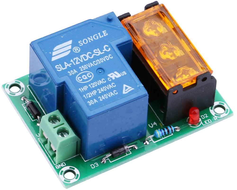 Yeeco Normally Open Closed 30a High Current Relay Output Electric Control Module Power Switch 12v Dc Amp Transfer For Cooler Heater
