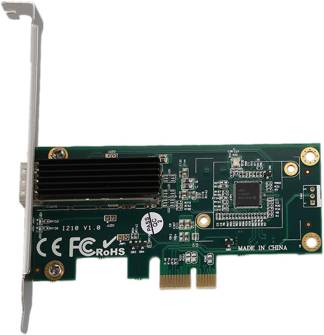 Semoic Network Card for Intel I210 Chip 1G Gigabit Ethernet//Network Card NIC ,Single RJ45 Port,PCI Express 2.1 X1