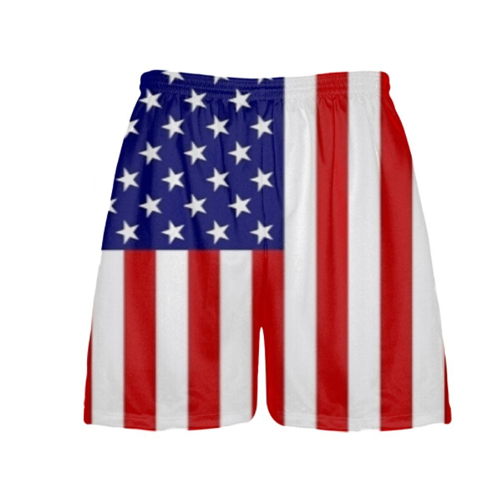 Blue Red White LightningWear Youth Youth American Flag Shorts