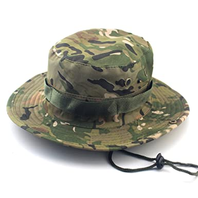 796639cee83 Image Unavailable. Image not available for. Colour  UxradG 6 Outdoor  Fisherman Hat Unisex Men Women Hiking Fishing Camouflage Jungle ...