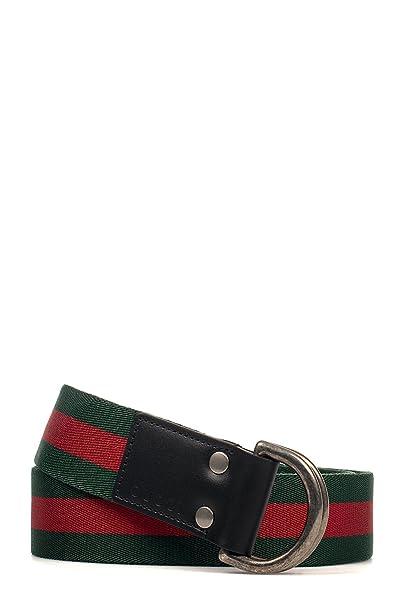 design raffinato prezzi al dettaglio prezzo folle Gucci Cintura Uomo 451136H917N1060 Poliammide Rosso/Verde ...