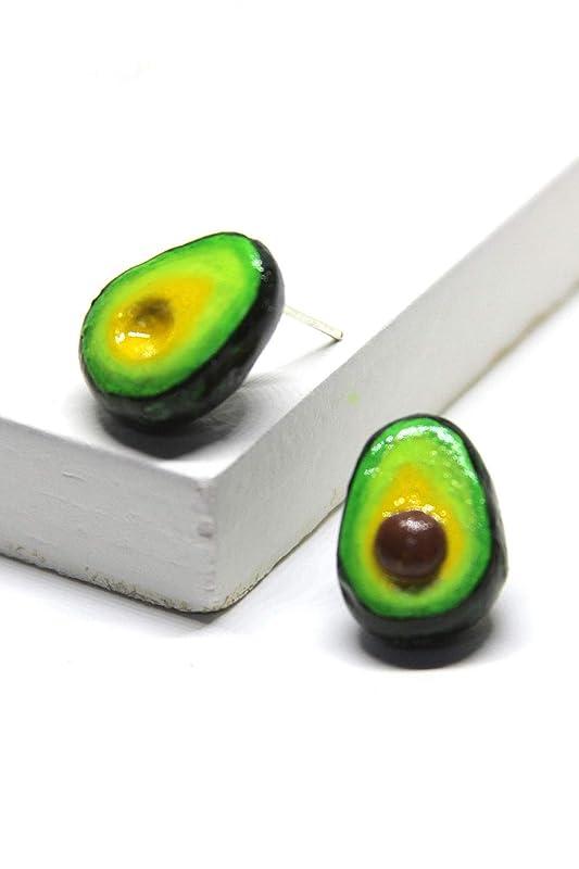 Avocado Earrings Green Avocado Gift for her Guacamole Funny Earrings Avocado Jewelry Valentines Day Gift Avocado Jewelry