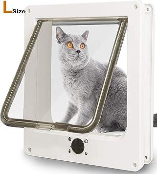 Amazon.com: SUCCESS Puerta de mascota para gatos, puertas de ...