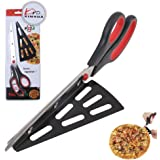 11 inch Stainless Steel Pizza Scissors by Xin Hua, Replace Your Pizza Cutter, Sharp Scissors Let You Easily Taste Serves Hot Pizza