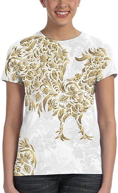 RTBB - Camiseta de manga corta para mujer, diseño de gallo ...