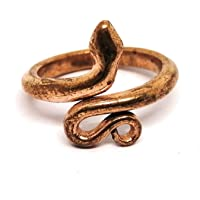 Sivananda Gems and Crafts Adjustable Copper Snake Ring Size -Midium