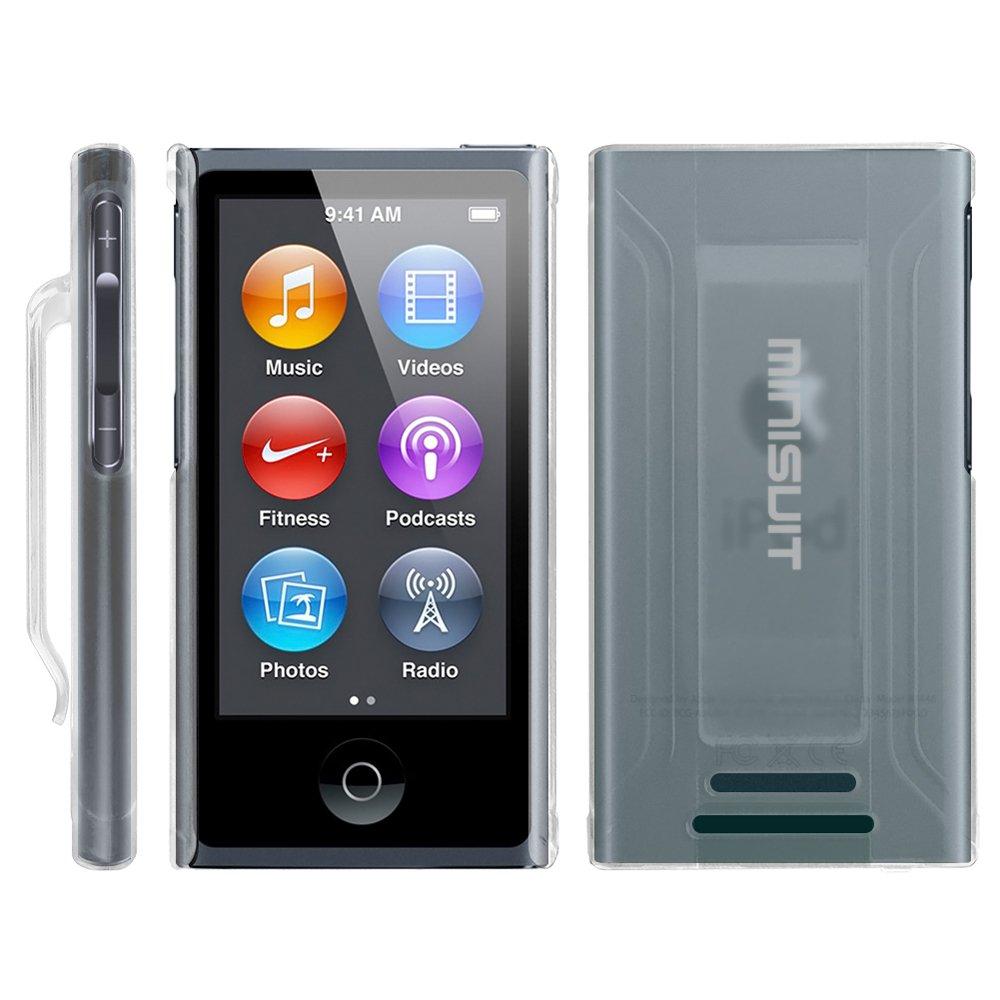 【MiniSuit NewYork】Apple iPod Nano7 特殊PCラバー加工 クリップ機能付き スリムタイプ 液晶保護フィルム付き 全7色 クリア  クリア B00B02V7KY