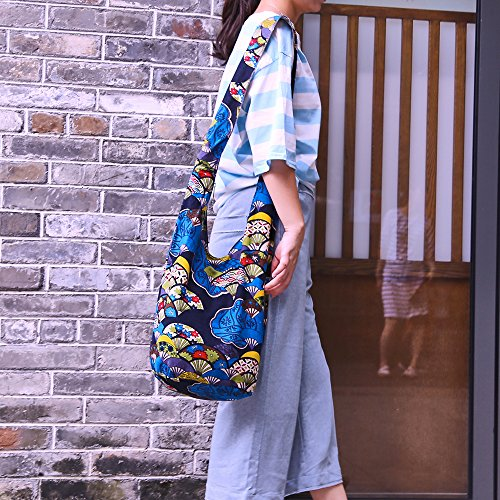 Ethnic Style Bag Lady's Everyday Crossbody Shoulder Bags Women Tourist Cotton Fabric Bag by miaomiaojia (Image #4)