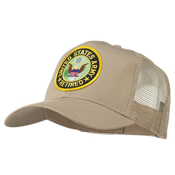 1d9a063ab45 e4Hats.com US Army Retired Circle Patched Mesh Cap - Khaki OSFM at ...