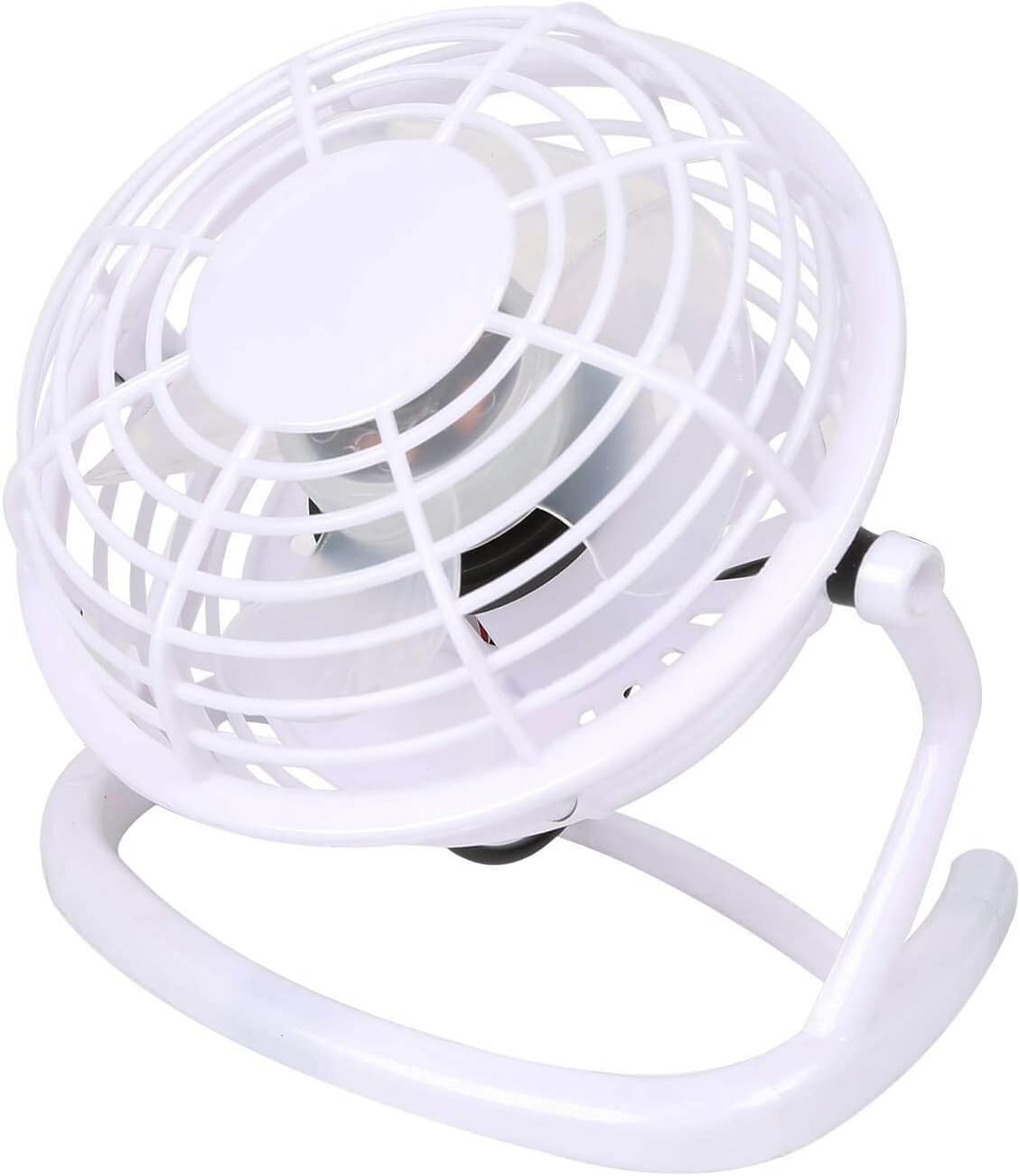 WOODYS HARMONY Mini USB Desk Fan Super Quiet Light Portable Cooling Air Cooler for PC Laptop Notebook Personal Computer White