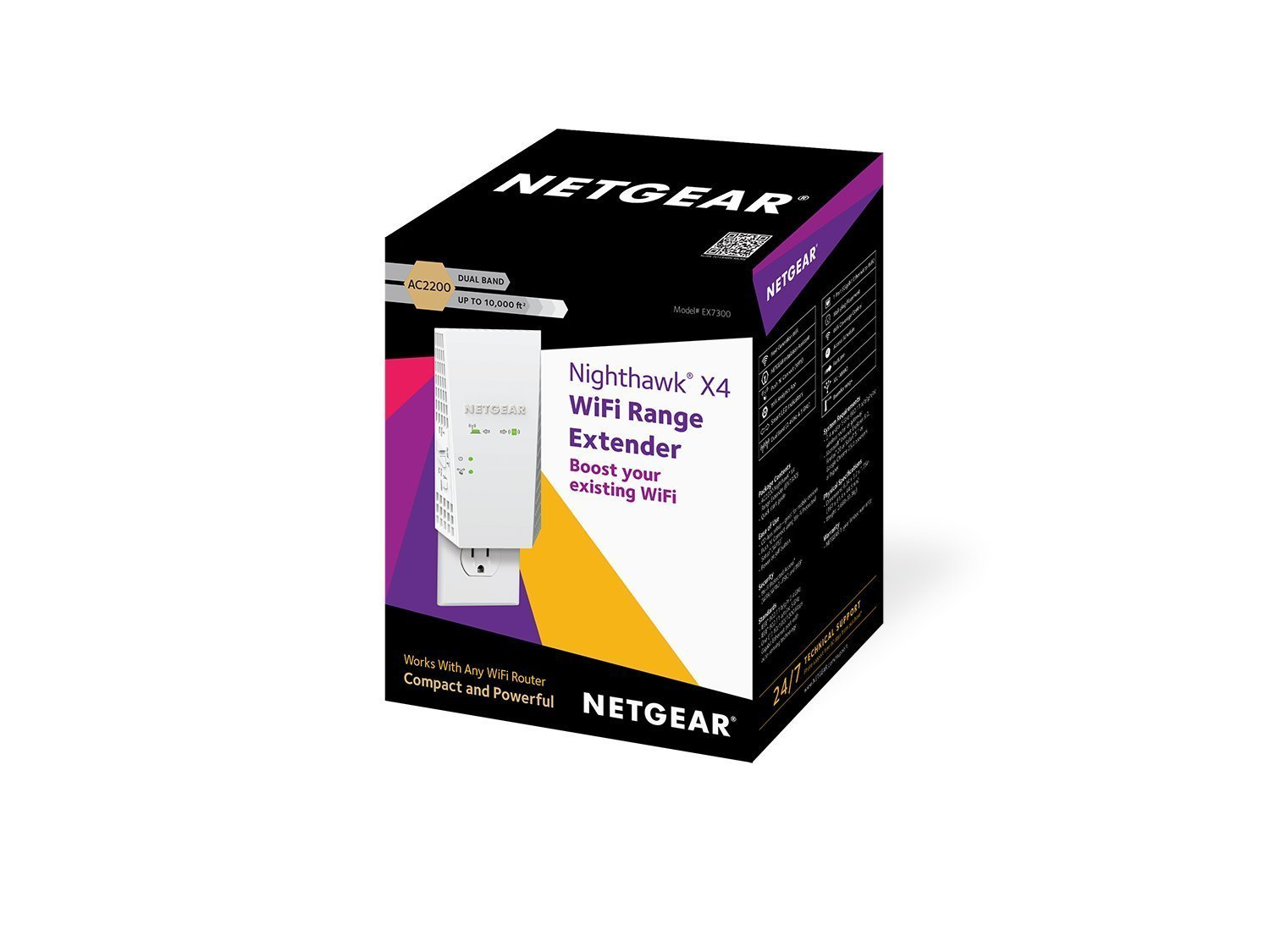 NETGEAR AC2200 Mesh WiFi Extender, Seamless Roaming, One WiFi Name, Works with Any WiFi Router. Create Your own Mesh WiFi System (EX7300) (Certified Refurbished) by NETGEAR (Image #7)