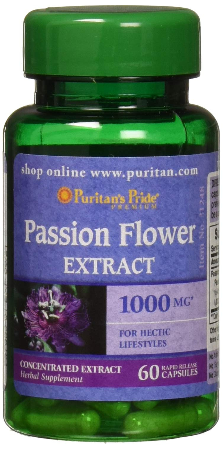 Puritans Pride Passion Flower 1000 Mg, 60 Count