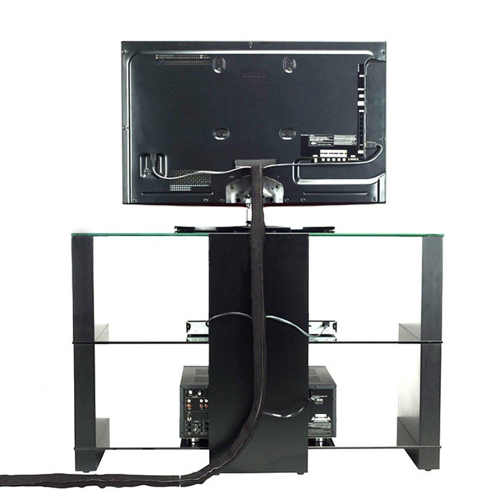 Gifort C/âble Rangement du N/éopr/ène 3M C/âble Organisateur cache-c/âble pour Ranger ou Cacher les c/âbles Gaine pour c/âbles de T/él/é ou Ordinateur Noir Blanc