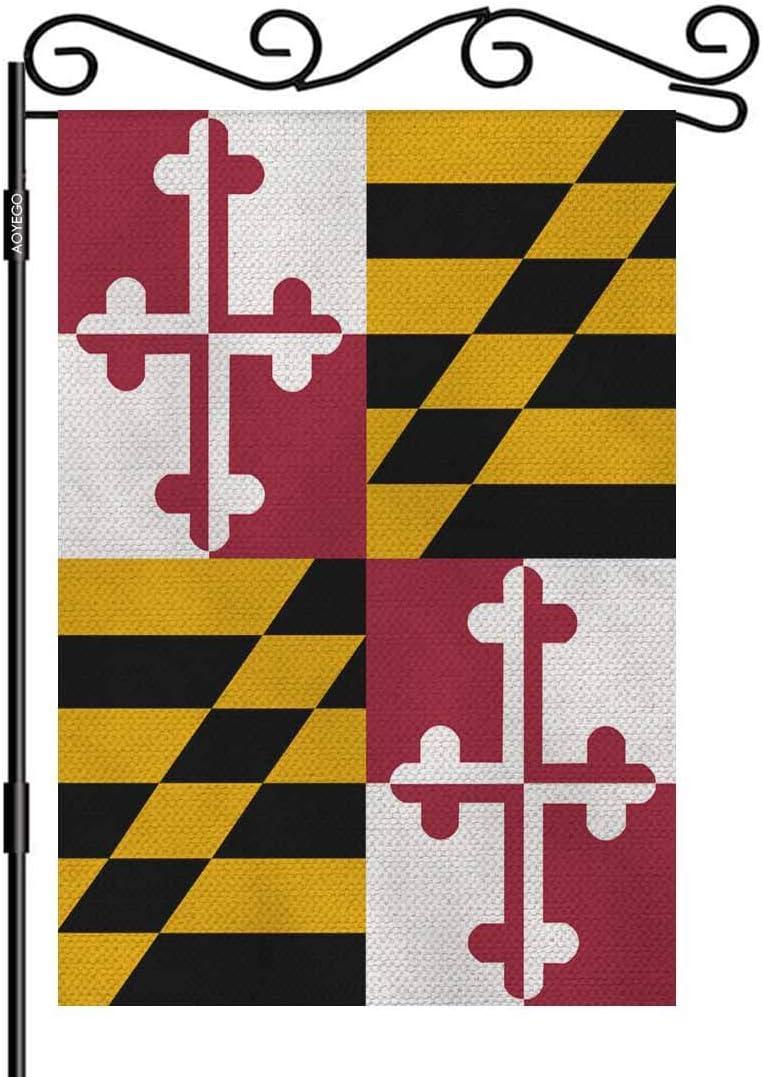 AOYEGO Maryland Us State Flag Garden Yard Flag 12.5