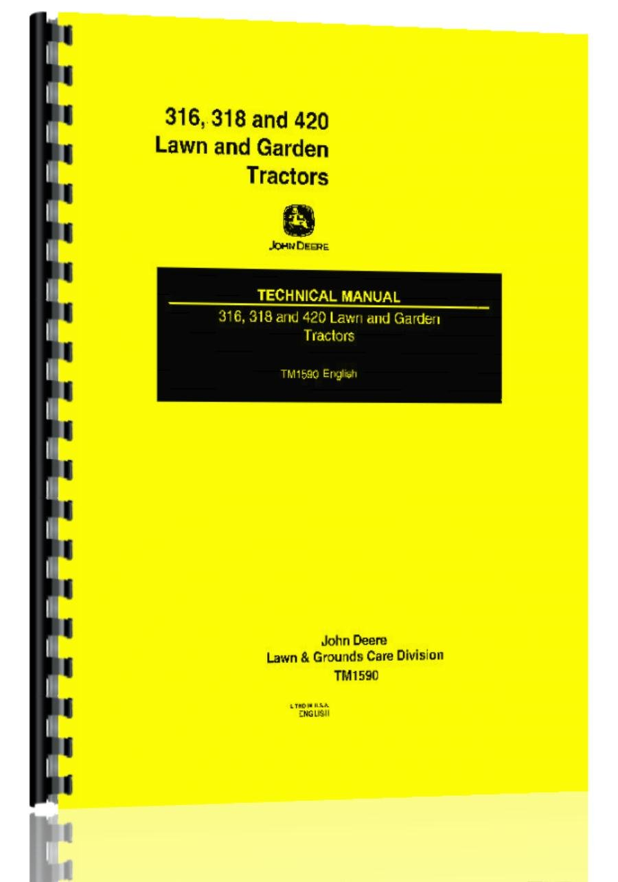 Amazon.com: John Deere 316 318 420 Tractor Service Manual: Office Products