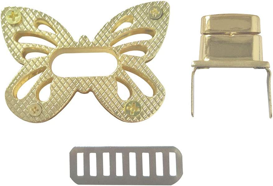 LGEGE Butterfly Shaped Purses Handbag Locks Clutches Closures Metal Brussed Bronze Tone Twist Lock 1 Pcs