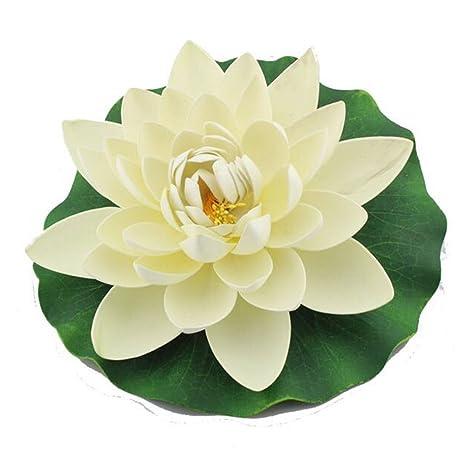 Welim Flor de Loto Artificial Simulación Flor Flotante Agua Flor Falso Jardín Piscina Floral Decoración para