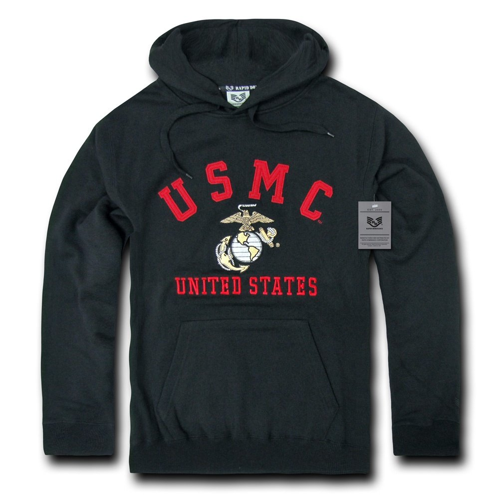Rapiddominance US Marines Pullover Hoodie Rapid Dominance S45-MAR-BLK-01-p