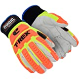 Magid Glove & Safety T-REX Arctic Primal Series TRX510W Cotton Blend Corded Palm Winter Thermal Impact Glove | Cut Level…