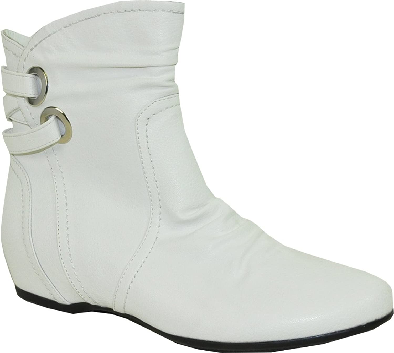 VANGELO Women Ankle Comfort Wedge Boot SD4416 with a Round Toe