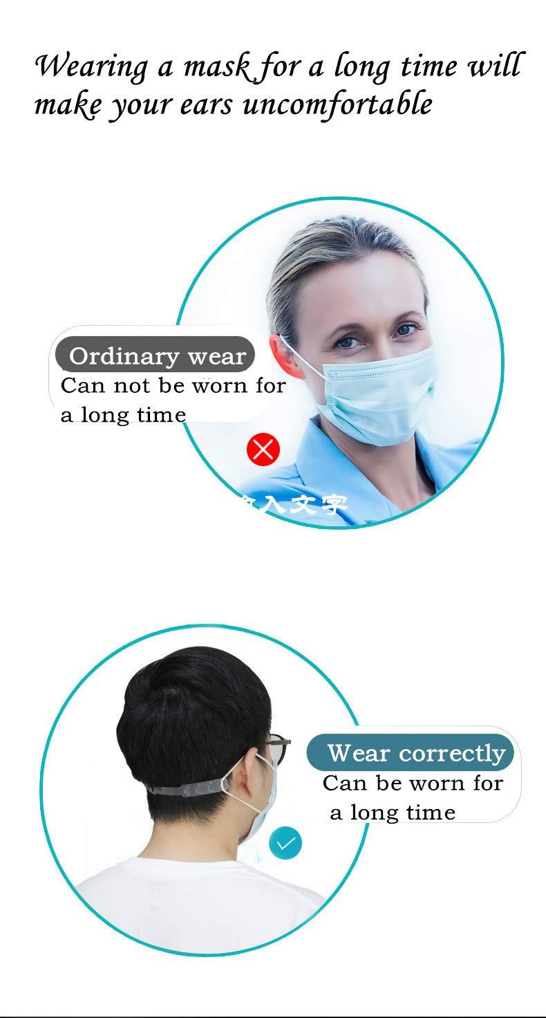 para evitar dolores de oreja,hebilla ajustable para orejas y m/áscaras m/áscara de cuerda para adultos y ni/ños 12PCS Hebilla de extensi/ón para orejas con gancho de m/áscara
