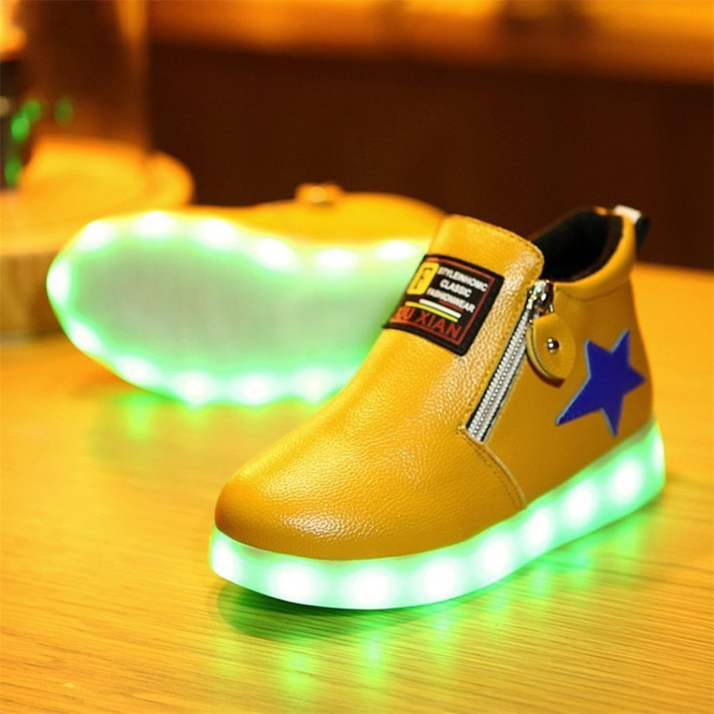 FG21ds21g Toddler Kids 7 Colors LED Shoes Children Sneakers for Boys Girls USB Charging Luminous Sneakers