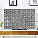 iPrint LCD TV dust Cover Strong Durability,Geometric,Abstract Lines with Geometric Designs Arabic Influences