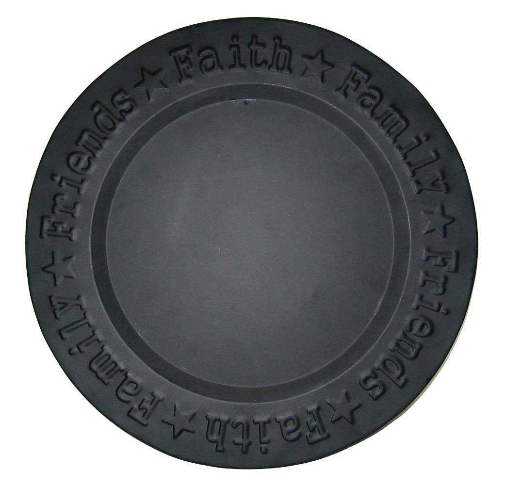 Craft Outlet Faith Family Friend Plate, 12-Inch, Black