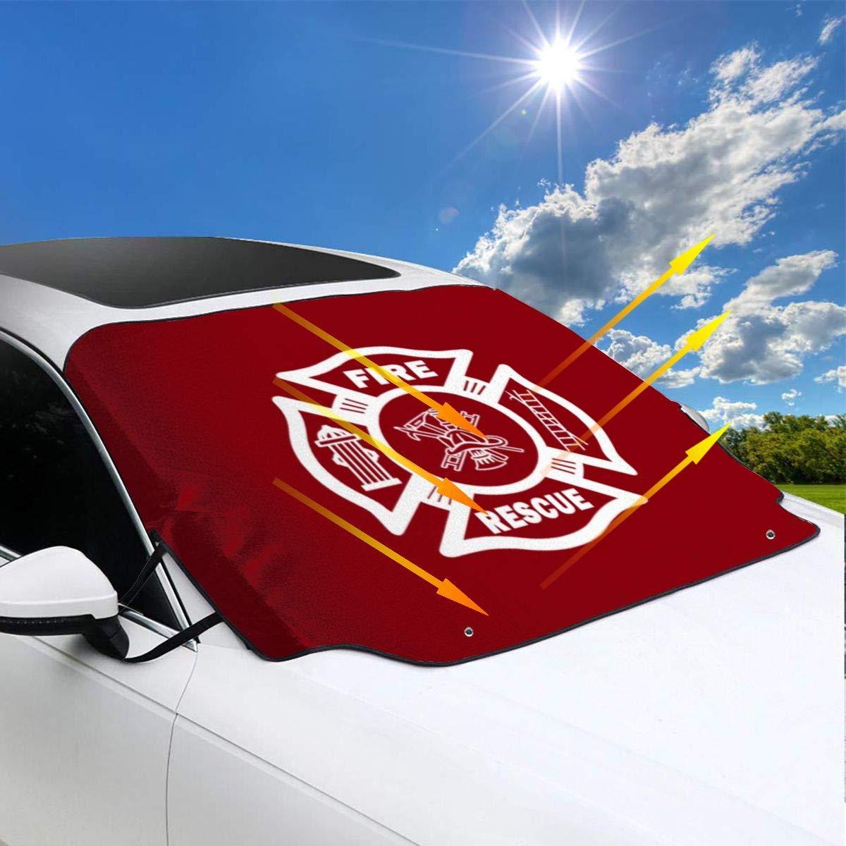 LKW Sonnenschutz f/ür die meisten Autos SUV Lilyo-ltd Firefighter Fire Rescue Auto-Windschutzscheibe h/ält Ihr Fahrzeug k/ühl Schutz blockiert W/ärme und Sonne