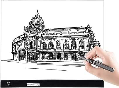 GEMITTO A3 Mesa de Luz de Dibujo LED Tableta de Luz de Iluminación de la Caja con Brillo Ajustable y Panel Táctil Inteligente para Artistas, Dibujo Infantil, Pintura Arquitectónica, 40x33,5x0,5cm: Amazon.es: Hogar