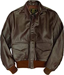 83ba3d8b7da Cockpit USA WWII Government Issue A-2 Brown Leather Jacket