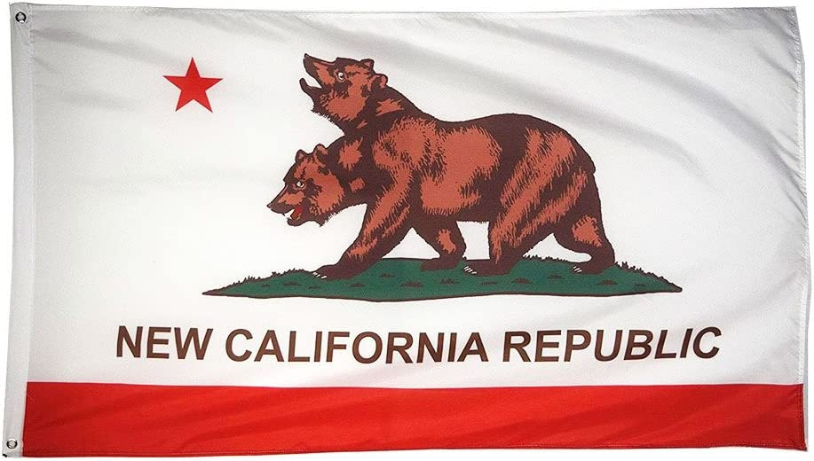 DANF FLAG New California Republic Flag Banner 3ftx5ft Polyester with Brass Grommets