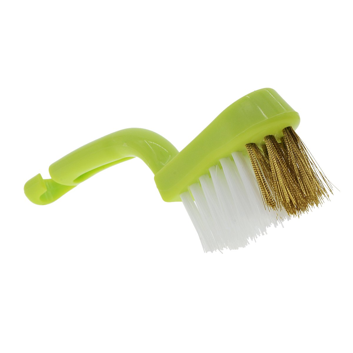 Saim Kitchen Stove Mini Cleaning Brush with Handle Front End Brass Wire Brush Suitable for Cup Kitchen Bathroom Gas Stove Faucets and Other Corner