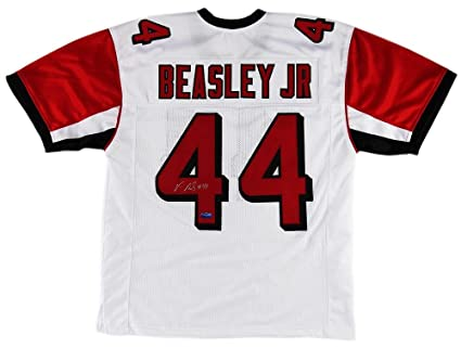 71045dc7d03 authentic autographed vic beasley jersey custom white autographed nfl  jerseys 13969 cee7e