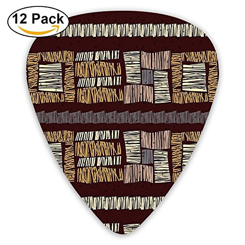 Newfood Ss Abstract Seamless Stripes Ornament Etnic Vector Guitar Picks 12/Pack Set