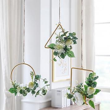 WENZHE Gefälschte Pflanze Künstliche Blumen Heimzubehör Charme Simulation  Seidenblume Riemen Balkon Erkerfenster Wand Dekoration, 3