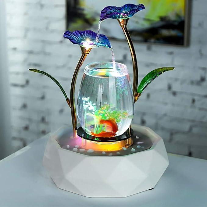 LIJUN Agua decoración Peces Tanque Sala TV gabinete decoración casera cerámica Fuente Waterscape Muebles para el hogar,Oceanblue: Amazon.es: Hogar