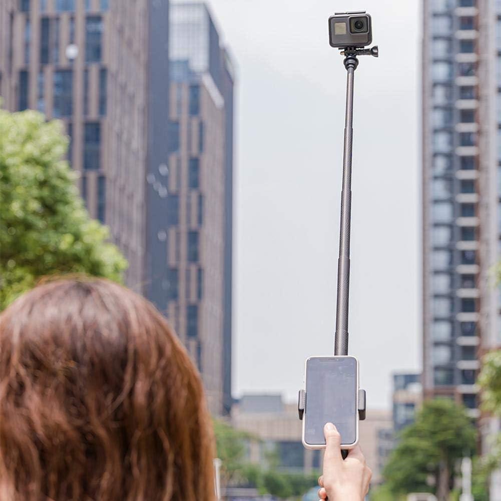 Taimot 90cm Carbon Fiber Lightweight Selfie Stick Tripod Foldable Aluminum Alloy Selfie Stick for GoPro Hero 8